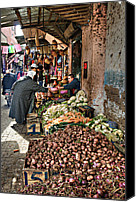 Morocco Canvas Prints - Veg alley Canvas Print by Marion Galt