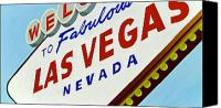 Iconic Canvas Prints - Vegas Tribute Canvas Print by Slade Roberts
