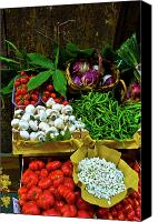 Digital Posters Photo Canvas Prints - Vegetables in Florence Canvas Print by Harry Spitz