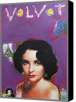 Elizabeth Taylor Mixed Media Canvas Prints - Velvet Canvas Print by Mike  Mitch