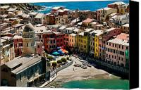 Colorfull Canvas Prints - Venazza Cinque Terre Italy Canvas Print by Xavier Cardell