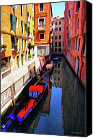 Buildings Canvas Prints - Venetian Canal Canvas Print by Jeff Kolker