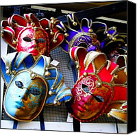 Venetian Masks Canvas Prints - Venetian Masks #venetianmasks #venetian Canvas Print by David Sabat