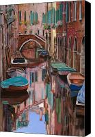 Venice - Italy Canvas Prints - Venezia a colori Canvas Print by Guido Borelli