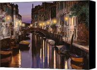 Night  Canvas Prints - Venezia al crepuscolo Canvas Print by Guido Borelli