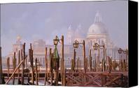 Gondola Canvas Prints - Venezia E La Nebbia Canvas Print by Guido Borelli