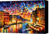 Afremov Canvas Prints - Venice - Grand Canal Canvas Print by Leonid Afremov