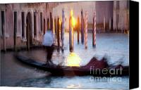 City Of Bridges Photo Canvas Prints - Venice Blue Hour 1 Canvas Print by Heiko Koehrer-Wagner