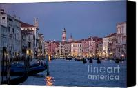 City Of Bridges Photo Canvas Prints - Venice Blue Hour 2 Canvas Print by Heiko Koehrer-Wagner