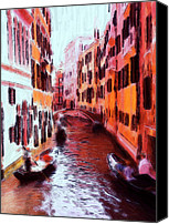 Bridge Pastels Canvas Prints - Venice by Gondola Canvas Print by Stefan Kuhn