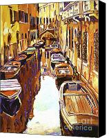 Most Liked Canvas Prints - Venice Canal Canvas Print by David Lloyd Glover