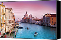 Wooden Tapestries Textiles Canvas Prints - Venice Canale Grande Italy Canvas Print by Dominic Kamp Photography