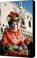 Marco Mixed Media Canvas Prints - Venice Carnival III Canvas Print by Louise Fahy