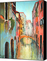 Rome Mixed Media Canvas Prints - Venice Canvas Print by Dan Haraga