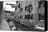 Houses Canvas Prints - Venice Canvas Print by Frank Tschakert