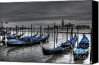 Kansas City Canvas Prints - Venice Gondolas  Canvas Print by Crystal Nederman