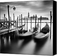 San Marco Canvas Prints - Venice Gondolas Canvas Print by Nina Papiorek