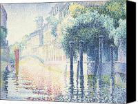 Architecture Painting Canvas Prints - Venice Canvas Print by Henri-Edmond Cross