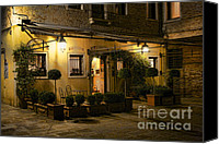 Kansas City Canvas Prints - Venice Hotel Glow Canvas Print by Crystal Nederman