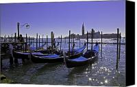 Gondoliers Canvas Prints - Venice is a magical place Canvas Print by Madeline Ellis
