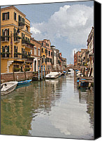 Window And Doors Canvas Prints - Venice IV Canvas Print by Sharon Foster