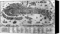 1566 Canvas Prints - VENICE: MAP, c1566 Canvas Print by Granger