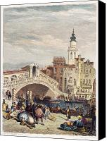 1833 Canvas Prints - Venice: Rialto, 1833 Canvas Print by Granger