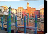 City Of Bridges Photo Canvas Prints - Venice Rialto Bridge Canvas Print by Heiko Koehrer-Wagner