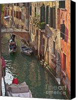 City Of Bridges Photo Canvas Prints - Venice ride with gondola Canvas Print by Heiko Koehrer-Wagner