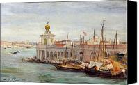 Signed Painting Canvas Prints - Venice Canvas Print by Sir Samuel Luke Fields