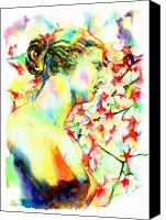 Featured Painting Canvas Prints - Venus De Milo Canvas Print by Christy  Freeman