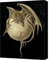 Venus Canvas Prints - Venus Dragon Canvas Print by Rob Carlos