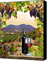 Wine Art Canvas Prints - Verasion Canvas Print by Gail Salituri