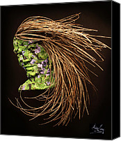 Girl Reliefs Canvas Prints - Verdant Canvas Print by Adam Long