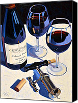 Bordeaux Canvas Prints - Veritas Canvas Print by Christopher Mize