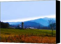 Country Photographs Canvas Prints - Vermont Farm Canvas Print by Bill Cannon