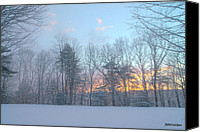 Photograhy Canvas Prints - Vermont Sun UP Canvas Print by Mark Holden