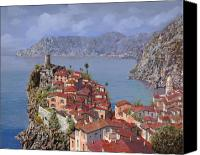 Coastal Canvas Prints - Vernazza-Cinque Terre Canvas Print by Guido Borelli