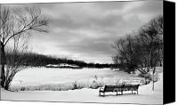 Verona Canvas Prints - Verona Park in Winter Canvas Print by Valerie Morrison