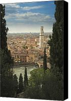 Cities Pyrography Canvas Prints - Verona Canvas Print by Ron Morecraft