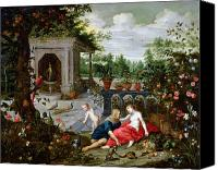 Mythological Canvas Prints - Vertumnus and Pomona Canvas Print by Hendrik van the Elder Balen