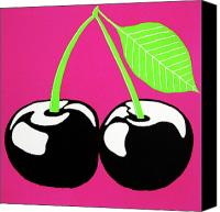 Fuchsia Canvas Prints - Very Cherry Canvas Print by Oliver Johnston