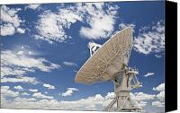 Antenna Canvas Prints - Very Large Array Antenna Canvas Print by Bryan Mullennix