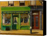 City Canvas Prints - Vesuvio Bakery in New York City Canvas Print by Christopher Oakley
