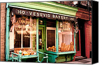 Greenwich Canvas Prints - Vesuvio Bakery Canvas Print by Linda  Parker