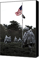 Veterans Memorial Canvas Prints - Veterans Canvas Print by Mitch Cat