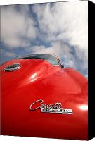 Red Car Canvas Prints - Vette Window Canvas Print by Peter Tellone