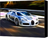 Unique Cars Canvas Prints - Veyron - Bugatti Canvas Print by Pamela Johnson