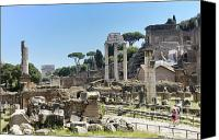 Ruin Canvas Prints - Via Sacra. Roman Forum. Rome Canvas Print by Bernard Jaubert