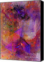 Triangles Digital Art Canvas Prints - Vibrant Echoes Canvas Print by John Robert Beck